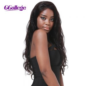 CCollege Full Lace Human Hair Wigs Body Wave Natural Color Peruvian Remy Hair Wigs With Baby Hair For Black Women Human Hair Wig