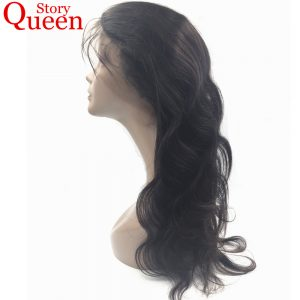 Queen Story Hair Peruvian Body Wave Closure Free Part 360 Lace Frontal With Baby Hair Pre Plucked Natural Color Remy Human Hair