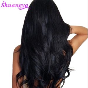 Shuangya Peruvian Body Wave Hair extensions 100% Human Hair Weave Bundles Natural Color Non Remy Hair Weft 10-28 Inch Free Ship