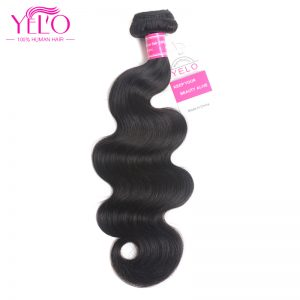Yelo Malaysian body Wave Hair Extensions 10-26 Inch 100% Remy Human Hair Bundles Natural Color Free Shipping 1 Piece Only
