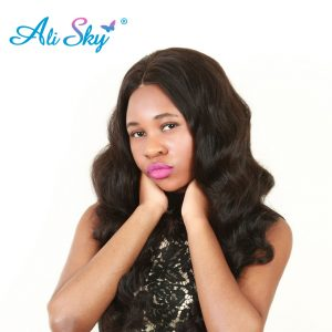 Malaysian Body Wave 100% Human Hair weaving Natural Black Ali Sky Unprocessed extension freeshiping no tangle non remy