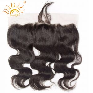 Sunlight Lace Frontal Malaysian Body Wave Ear to Ear 13x4 Pre Plucked Closure Bleached Knots With Baby Hair Remy Hair
