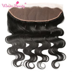 Wonder Beauty Malaysia Body Wave Remy Hair 13x4 Lace Frontal Hand Tied Ear To Ear 130% Density Free Part Lace Frontal Closure