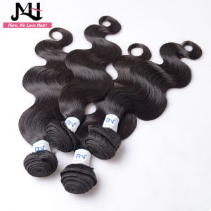 "JVH Malaysian Body Wave Remy Hair Bundles Natural Color 100% Human Hair Weaving Double Weft 8""- 28"""