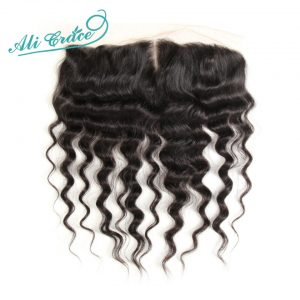 ALI GRACE Brazilian Loose Wave 13*4 Middle Part Lace Frontal Natural Color 100% Remy Human Hair 10-20 Inch Free Shipping
