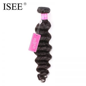 ISEE Brazilian Virgin Hair Loose Wave Can Be Dyed 100% Human Hair Extensions Weave Bundles Free Shipping
