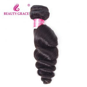 Beauty Grace Brazilian Loose Wave Human Hair Bundles 1 Piece Natural Color Remy Hair Weaving 10-26 Inches Free Shipping