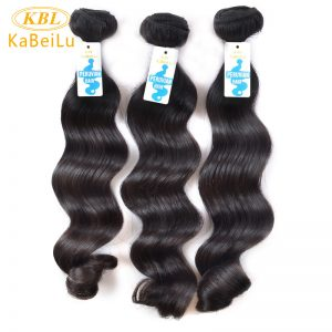 Kabeilu Peruvian Virgin Hair Loose Wave Nature Color KBL 100% Human Hair Bundles Machine Weft Hair Extensions Free Shipping