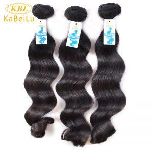 Kabeilu Peruvian Virgin Hair Loose Wave Nature Color KBL 100% Human Hair Bundles Machine Weft Hair Extensions Free Shipping