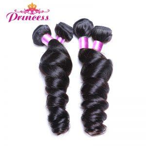 Beautiful princess Peruvian Loose Wave 1PC 100% Human Hair Weaving Bundle Natural Color Non-remy Hair