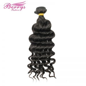 "[Berrys Fashion] Peruvian Loose Wave Weave Human Hair Weft 100g Remy Hair Extensions 1Pcs/Lot  12-26"" Natural Color Hair Bundles"