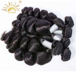 Sunlight Human Hair Peruvian Loose Wave Human Hair Weave Bundles Natural Color Remy Hair Extensions 1 pc Can buy 3 or 4 Bundles