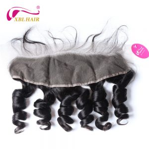 XBL HAIR Loose Wave Lace Frontal Closure Malaysian Remy Hair 13*4 Free Part Swiss Lace 100% Human Hair Free Shipping