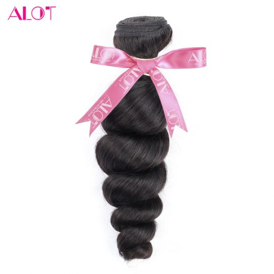 ALot Hair Malaysian Loose Wave Bundles 1 Piece 100% Human Hair Extension Natural Color Non-remy Hair Weaves 8-28Inch