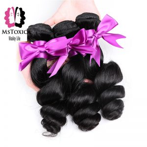 Mstoxic Hair Malaysian Loose Wave Bundles 1Piece 100% Human Hair Extension Natural Color Non Remy Hair Weave Free Shipping 8'-24