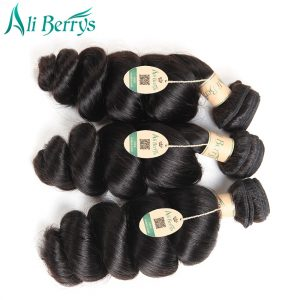 Ali Berrys Hair Loose Wave Malaysia Remy Hair Natural Color 100% Human Hair Extensions 8-28 Inch Bundles Free Shipping