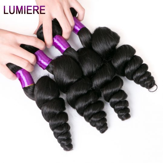 Lumiere Hair Loose Wave Malaysian Hair Weave Bundles Human Hair Non Remy Hair Exetnsions Natural Color One Bundle Free Shipping