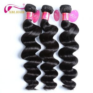 XBL HAIR Loose Wave Malaysian Human Hair Natural Color Remy Hair Weave 1 Bundles 8-28 Inches Can Be Dyed Free Shipping