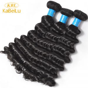 "KBL Deep Wave Brazilian Virgin Hair 100% Unprocessed Human Hair Bundles Natural Color Hair Weft Extensions 10""-40"" Inch"