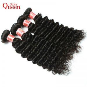 Queen Story Hair Deep Wave Brazilian Hair Weave Bundles 10-28 Inch 100% Human Hair Bundles Free Shipping Remy Hair