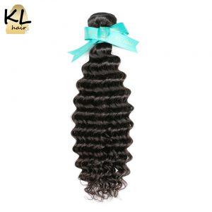 "KL Hair Deep Wave Brazilian Hair Bundles 100% Human Hair Weaving Natural Color 8""~28"" Remy Hair Extensions Free Shipping"