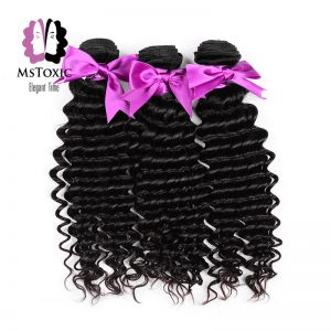 Mstoxic Brazilian Deep Wave Remy Hair Weaves Bundles Human Hair Extensions 12-28 Inch Machine Double Weft Free Shipping
