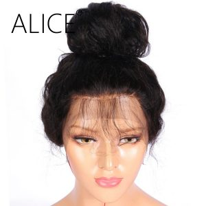 ALICE Pre Plucked 360 Lace Frontal Wig With Baby Hair Bleached Knots 10-22'' Remy Hair Brazilian Human Hair Wigs For Black Women