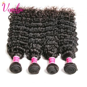 Vanlov Peruvian Deep Wave Bundles Remy Human Hair Bundles Hair Extension Natural Color Weave Can Buy 3/4/5 PCS Free Shipping