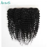 Ali Berrys Hair Peruvian Deep Wave Lace Frontal Closure 13X4 Human Hair Closure 10-20 Inch Remy Hair Ear To Ear Free Shipping