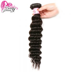 Beauty Forever Peruvian Hair Deep Wave Bundles Non Remy Human Hair Weaves Natural Color 16-26 inch 1 Piece Only