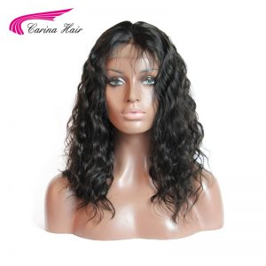 Carina Full Lace Hair Wigs Deep Wave Malaysian Human Hair Glueless Wigs For Black Women Middle Part Bleached Knots Non-Remy