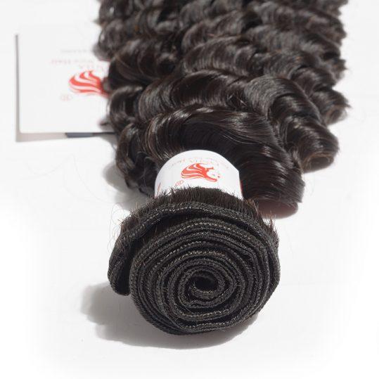 [FYNHA] Malaysian Deep Wave Remy Hair Natural Color 100% Human Hair Bundles 10-28 inch Free Shipping