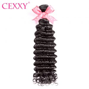CEXXY Malaysian Deep Wave Remy Hair Natural Color 100% Human Hair Bundles 10-28 inch Free Shipping