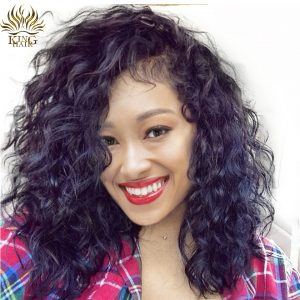 [King Hair] Full Lace Wigs Natural Wave Human Hair With Baby Hair 14-24 Brazilian Remy Hair Natural Hairline For Black Women