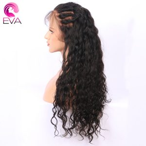 "Eva Hair Pre Plucked Full Lace Human Hair Wigs For Black Women Natural Wave Brazilian Remy Hair Wigs Natural Hairline 14""-24"""
