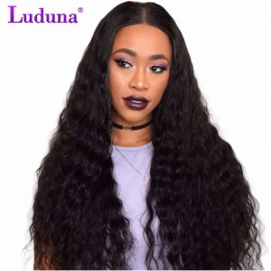 Luduna Peruvian Water Wave Weave Human Hair Weave Bundles Remy Hair Extension Can be straightened 10-28inch 1 Piece/Lot