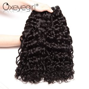 "Oxeye girl Peruvian Water Wave Human Hair Bundles Remy Hair Extensions 1 pc 10""-28"" Hair Weaving Can Buy 3 / 4 Bundles"