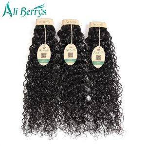 Ali Berrys Peruvian Hair Water Wave 100% Remy Human Hair Natural Color 8-28 Inche Peruvian Hair Extensions Can Buy 3 Or 4 Pieces