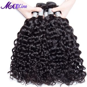 Maxine Hair Products 1 Bundle Peruvian Water Wave Hair 100g Human Hair Weave Thick Remy Hair Bundles 10-28inch Can Be Bleached
