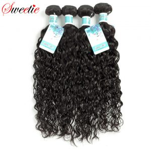 Sweetie Hair Products Peruvian Water Wave Hair Bundles 100% Human Hair Weaving 1Pc Hair Extensions Non remy Free Shipping