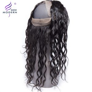 Modern Show Hair Water Wave 360 Lace Frontal Closure With Baby Hair 100% Human Hair Remy Hair Weaves Natural Hairline Free Ship