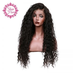 Slove Glueless 150% Density Loose Curly Lace Front Human Hair Wigs For Black Women Pre Plucked Brazilian Remy Hair Bleached Knot