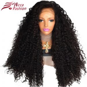 Dream Beauty Brazilian 250% Density Lace Front Wig Natural Color Non Remy Human Hair Curly Wigs For Black Women