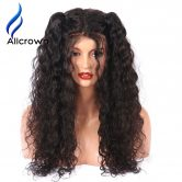 "Alicrown 4*4 Silk Base Full Lace Wig With Baby Hair Pre-Plucked Brazilian Remy Full Lace Human Hair Wigs For Black Women 8""~30"""