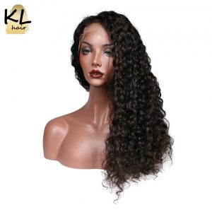 KL Hair Pre Plucked 5*4.5 Silk Base Full Lace Human Hair Wigs With Baby Hair Curly Brazilian Remy Hair Wigs For Black Women