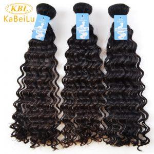 "KBL Brazilian Virgin hair Curly weave human Hair Bundles Unprocessed 12""-30"" Natural Color 1B Hair Extensions"