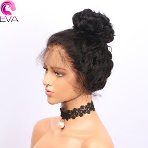 Eva Hair Lace Front Human Hair Wigs Curly Pre Plucked Hairline Brazilian Remy Hair Lace Wigs With Baby Hair For Black Women