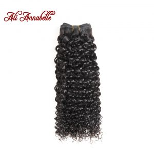 ALI ANNABELLE HAIR Brazilian Kinky Curly Hair 100% Human Hair Weave Bundles Natural Color Remy Hair Bundles Free Shipping