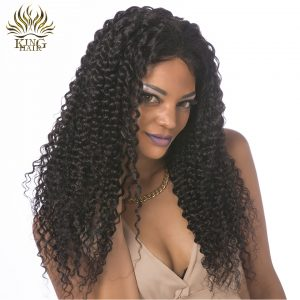 King Hair Brazilian Kinky Curly Hair Weave Bundles 100% Remy Human Hair Extensions Natural Color Can Be Dyed Free Shipping