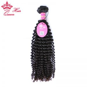 "Queen Hair Products Kinky Curly 1 Piece Brazilian Virgin Hair 12"" to 28"" 100%  Unprocessed Human Hair Weaving Natural Color"